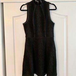 Black snakeskin dress